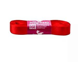 Fita de Cetim Progresso 15mm nº3 - 10m Cor 1354 Vermelho Tomate - 01 unidade