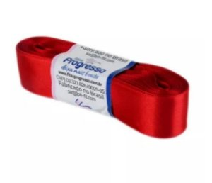 Fita de Cetim Progresso 22mm nº5 - 10m Cor 209 Vermelho - 01 unidade - Rizzo Embalagens