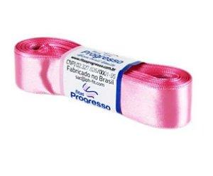 Fita de Cetim Progresso 22mm nº5 - 10m Cor 240 Rosa Escuro - 01 unidade - Rizzo Embalagens