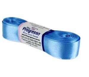 Fita de Cetim Progresso 22mm nº5 - 10m Cor 246 Azul Celeste - 01 unidade - Rizzo Embalagens