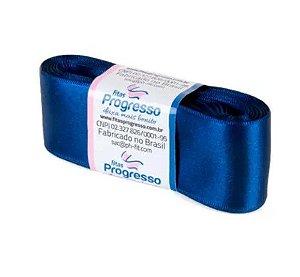 Fita de Cetim Progresso 38mm nº9 - 10m Cor 215 Azul Marinho - 01 unidade - Rizzo Embalagens