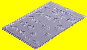 Forma de Acetato Números e Símbolos  - Cód.120 - Porto - Rizzo Confeitaria