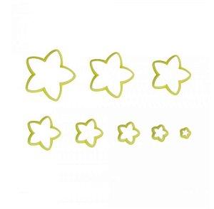 Cortador Estrela - 8 Unidades -Blue Star - Rizzo Confeitaria