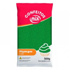 Confeito Miçanga - Verde - 500g - Mix