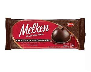 Chocolate Meio Amargo Barra - Melken - 1,050kg - Rizzo Confeitaria