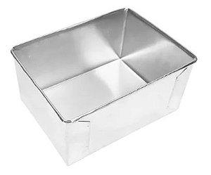 Forma de Aluminio Retangular  - 20x15x10cm - Ref:8005 - Macedo - Rizzo Confeitaria