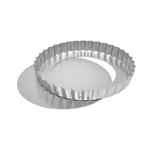 Forma Torta de Maçã Fundo Falso - 11x3cm - Ref 0949 - 01 unidade - Macedo - Rizzo Confeitaria