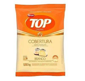 Cobertura sabor chocolate Branco Gotas - Top - 1,050kg - Harald - Rizzo Confeitaria