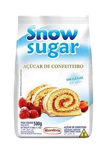 Açúcar de Confeiteiro - 500g -Snow Sugar -  Mavalério - Rizzo Confeitaria
