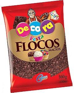 Flocos Macios Chocolate - 500g - Decora Festa - Rizzo Confeitaria