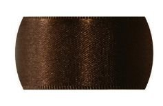 Fita de Cetim  para personalizar Progresso Crie sua Fita -  CFS002 Marrom 10mm c/50mts  Rizzo Confeitaria