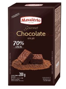 Chocolate Gourmet em Pó 70% Cacau - 200g - Mavalério - Rizzo Confeitaria