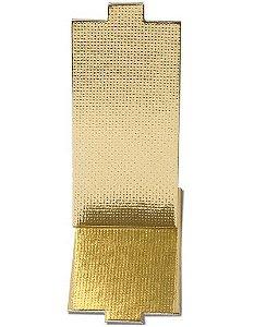 Base Laminada para Doce Retangular - Dourado - 7,5x4 cm - 25 unidades - Stalden - Rizzo Confeitaria