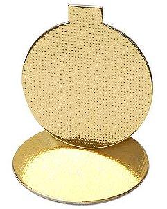 Base Laminada para Doce Redonda - Dourado - 10 cm - 25 unidades - Stalden - Rizzo Confeitaria