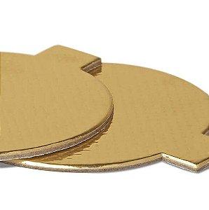 Base Laminada para Doce Redonda - Dourado - 5,5 cm - 25 unidades - Stalden - Rizzo Confeitaria