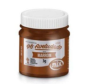 Pó aveludado Marrom 3g Mix Rizzo Confeitaria