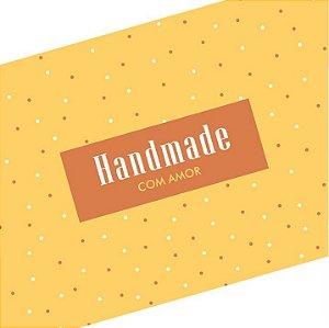 Rótulo e Tira Decorativa Handmade com Amor - Tam P / M / G - 5 unidades - Rizzo Confeitaria