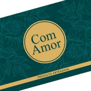 Rótulo e Tira Decorativa com Amor - Tam P / M / G - 5 unidades - Rizzo Confeitaria
