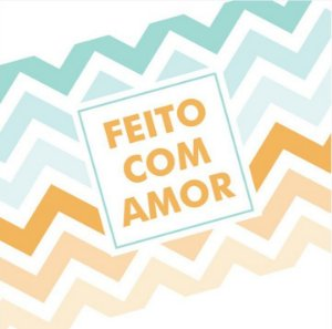 Rótulo e Tira Decorativa Feito com Amor - Tam P / M / G - 5 unidades - Rizzo Confeitaria