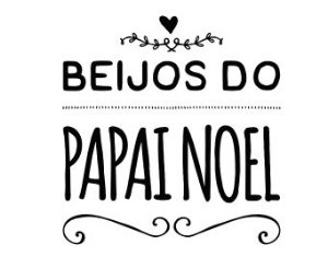 Carimbo Artesanal Beijos do Papai Noel - M - 6,0x6,3cm - Cod.RI-052 - Rizzo Confeitaria