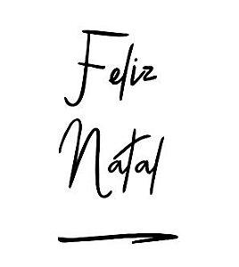 Carimbo Artesanal Feliz Natal - M - 6,0x3,9cm - Cod.RI-047 - Rizzo Confeitaria