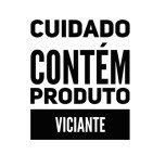 Carimbo Artesanal Cuidado Contém Produto Viciante - M - 4,8x5,8cm - Cod.RI-020- Rizzo Confeitaria