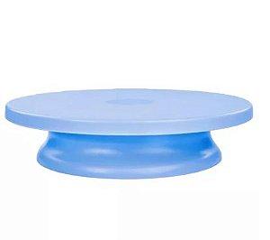 Bailarina - Prato Giratório Azul 30 cm Fazendo a Festa Rizzo Confeitaria