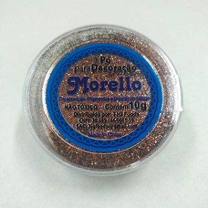 Pó para Decoração - Brilho Marrom - Morello - 10g - Rizzo Confeitaria