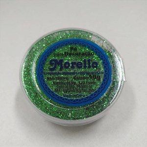 Pó para Decoração - Brilho Verde - Morello - 10g - Rizzo Confeitaria