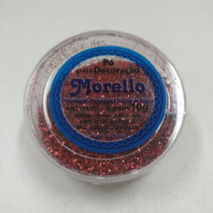Pó para Decoração - Brilho Vermelho - Morello - 10g - Rizzo Confeitaria