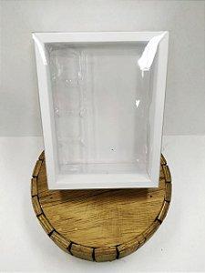 Caixa Tablete - Branco - 10 Gomos+Bombom - 5 unidades - Crystal - Rizzo Confeitaria
