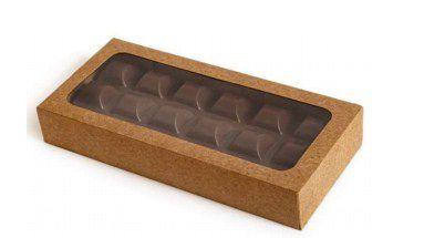 Caixa Envelope Tablete - Kraft - 18 Gomos -10 unidades - Crystal - Rizzo Confeitaria