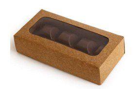 Caixa Envelope Tablete - Kraft - 8 Gomos -10 unidades - Crystal - Rizzo Confeitaria