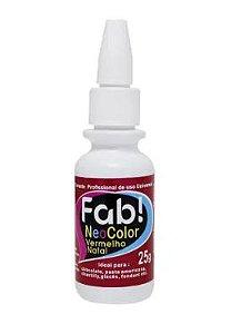 Corante Profissional Neo Color - Vermelho Natal - 25g - FAB - Rizzo Confeitaria