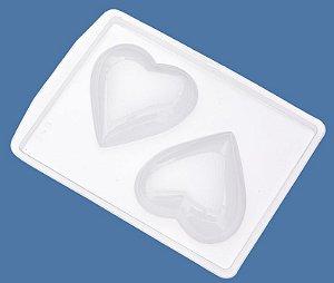 Forma de Acetato Coração Liso Médio - Mod. 250 - Crystal - Rizzo Confeitaria