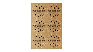 Etiquetas Artesanais Cookies - Kraft - 4cm - 12 unidades - Rizzo Confeitaria