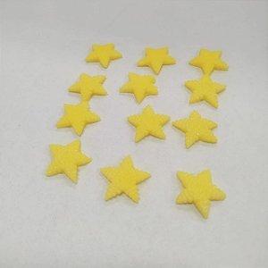 Confeitos Comestíveis Estrela Amarela - Flores e Encantos de Açúcar - Rizzo Confeitaria