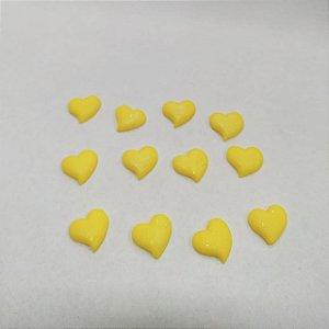Confeitos Comestíveis Coração Amarelo - Flores e Encantos de Açúcar - Rizzo Confeitaria