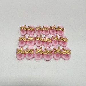 Confeitos Comestíveis Pantufa Rosa - Flores e Encantos de Açúcar - Rizzo Confeitaria