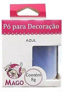 Pó para decoração - Azul - 8g - Mago - Rizzo Confeitaria