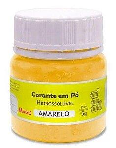 Corante em pó Hidrossolúvel - Amarelo - 5g - Mago - Rizzo Confeitaria