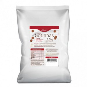 Gotinhas sabor Chocolate ao Leite 2,5KG - Salware - Rizzo Confeitaria