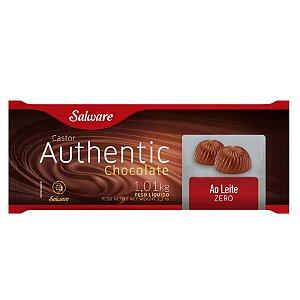 Chocolate Authentic Zero Açúcar Ao Leite 1,01KG - Salware