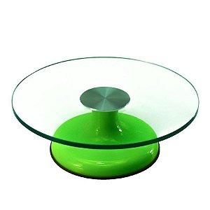 Bailarina de Vidro Giratória 30cm Verde - Confeitudo - Rizzo Confeitaria