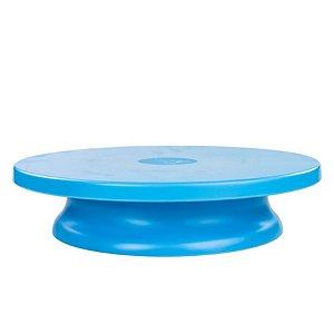 Bailarina Prato Giratório Azul Tiffany 29,5x7,0cm Blue Star - Rizzo Confeitaria