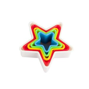 Cortadores Plastic Estrela  com 5 un. SilverChef - Rizzo Confeitaria