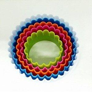 Cortadores Plastico Redondo com 5 un. SilverChef - Rizzo Confeitaria