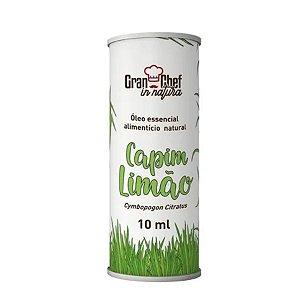 Óleo Essencial Alimentício Natural Capim Limão 10ml GranChef
