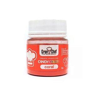 Corante em Pó Lipossolúvel Candy Colors Coral 5g Granchef - Rizzo Confeitaria