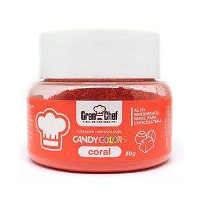 Corante em Pó Lipossolúvel Candy Colors Coral 30g Granchef - Rizzo Confeitaria
